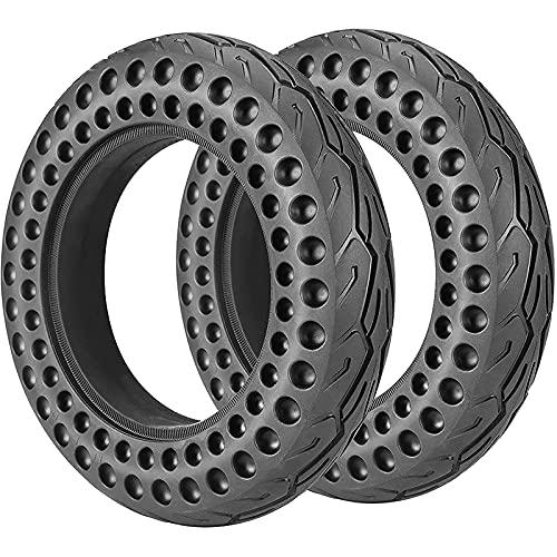 GYAM Neumáticos para Scooter eléctrico (Paquete de 2), 10 Pulgadas 10 x 2 neumáticos sólidos a Prueba de explosiones, absorción de Impactos de Panal, duraderos Resistentes a los pinchazos
