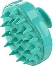 Hair Scalp Massager Shampoo Brush with Soft Silicone Bristle, Scalp Scrubber Exfoliating for Women, Men Dandruff Treatment, Hair Growth and Stress Release (Green)