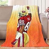 Elliot Dorothy 49ers Die Hard Fan San Francisco - Manta de franela de forro polar suave y cálida manta de felpa, manta de microfibra ligera para cama, sofá, silla, sala de estar 177,8 x 228,6 cm