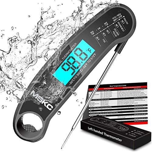 Instant Read Meat Thermometer Suitable for left hand Waterproof Digital Thermometer LCD Folding product image