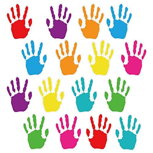 48 Pieces Colorful Handprint Cut-Outs, Hand Creative Cutouts Handprint...