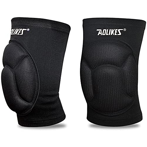 MAIBU Protective Volleyball Knee Pads Thick Sponge Anti-Collision Kneepads Protector Non-Slip Wrestling Dance Knee Pads Support Sleeve for Outdoor Sport(1 Pair)
