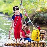 Herefun Piratenzubehör Set, 40 Stück Piraten Party Mitgebsel Kinder Piratenkapitän, Piraten Augenklappe, Ring, Bandana, Augenmaske, Schnurrbart, Schlüsselanhänger, Geeignet für Karneval, Halloween - 7