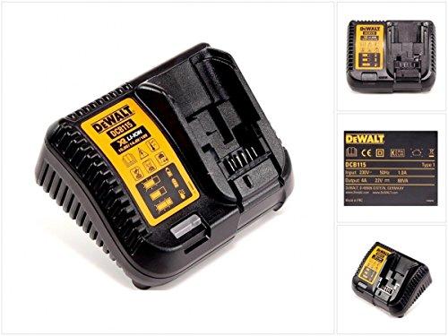 DeWalt Akku-Schnellladegerät/ Akkuladegerät (10,8- 18 Volt, lädt alle XR-Schiebe Akkus, schonendes Schnellladen, Wandmontage möglich, platzsparend) DCB115