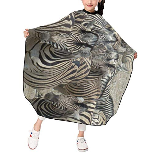 Capes de coupe enfant Professional Barber Cape Salon Aprons African Zebra Horse Design Boys Girls Hair Styling Haircut Gown For Cutting Coloring Perming Hairdresser Shampoo Proof