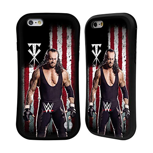 Head Case Designs Officially Licensed WWE Undertaker American Flag Superstars Hybrid Case Compatible with Apple iPhone 6 / iPhone 6s