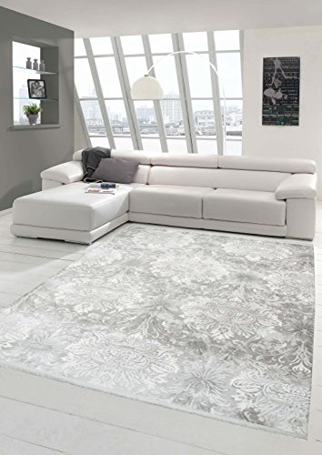 Designer Teppich Moderner Teppich Wollteppich Meliert Wohnzimmerteppich Wollteppich mit Fransen...