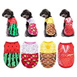 Sebaoyu 4 Pack Puppy Clothes Dog Apparel & Accessories Dogs Clothes for Small Dogs Girl Dog Shirts Chihuahua Clothes Small Dog Clothes Dog Hawaiian Shirts Clothes for Teacup Puppies Dog Clothing