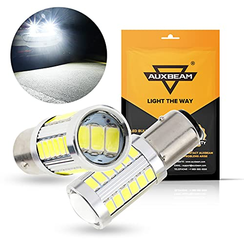 Auxbeam 1157 P21/5W BAY15D LED Light Bulbs, Extremely Bright White 6000LM LED...