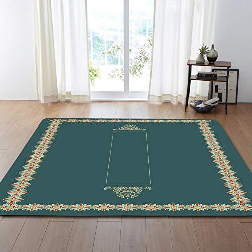 Alfombra de terciopelo suave táctil imprimió hermosa alfombra de borde floral para la sala de estar decoración pasillo pasillo antideslizante área alfombra niños guardería jugar mate,200 * 300cm