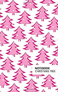 Christmas Tree Notebook: (White Pink Edition) Fun Notebook 96 Ruled/Lined Pages (5x8 inches / 12.7x20.3cm / Junior Legal P...