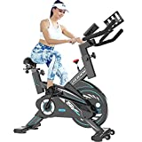 L NOW Exercise Bike Indoor Cycling Bike Belt Driven Stationary Bike for Home Office Cardio Workout Bike Training