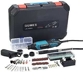 Gumes amoladora eléctrica Advanced Professional Kit de herramientas rotatorias multifunción con(165w)+ 80 accesorios y 6 accesorios Velocidad variable para artesanías