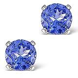 TheDiamondStore | Stud Earrings - AA Tanzanite 1ct - 925 Silver
