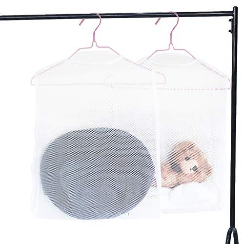 Chaslean 枕干しネット 物干しネット ぬいぐるみ干しネット まくら干し袋 枕干し 吊り下げ式 乾燥 梅雨時期最適 省スペース 通気性 2個セット