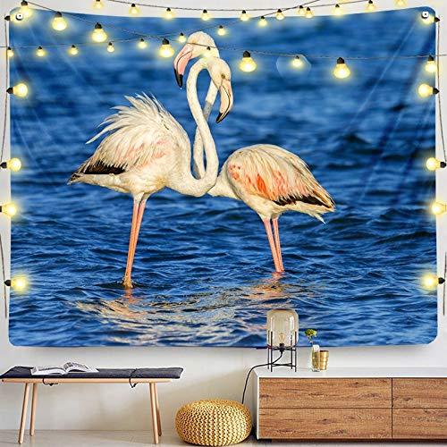 KHKJ Dove Flamingo decoración Tapiz de habitación Dormitorio de Adolescente para tapicería de Tela Decoraciones Revestimiento de Pared de Dormitorio A5 200x180cm