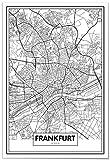 Panorama Poster Karte von Frankfurt 70x100 cm - Gedruckt
