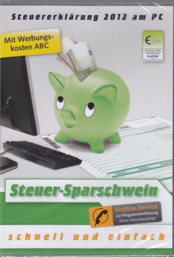 Steuererklärung 2012 Steuer-Sparschwein Software PC