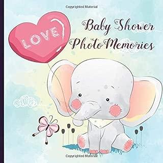 Baby Shower Photo Memories Book: Elephant Baby Shower Photo Album Book