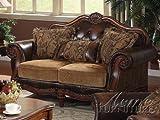ACME Dreena Loveseat w/3 Pillows - 0 - PU & Chenille