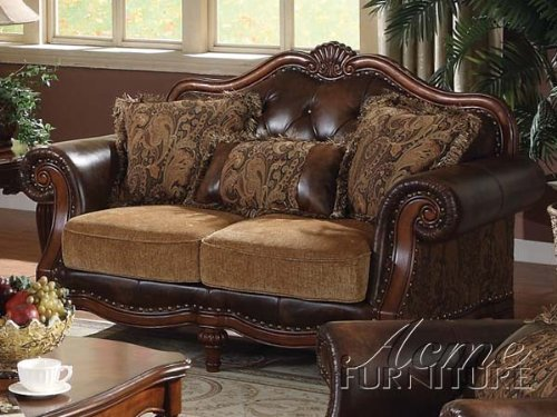 Big Sale Acme 05496 Dreena Bonded Leather Loveseat with Three Pillows