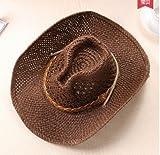 Unbekannt Cowboy Hut Panama Herren Stroh Rodeo Ranch Braun