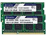 Timetec 8GB KIT(2x4GB) DDR3 1333MHz PC3-10600 Non-ECC Unbuffered 1.5V CL9 2Rx8 Dual Rank 204 Pin SODIMM Laptop Notebook PC Computer Memory RAM Module Upgrade (8GB KIT(2x4GB))