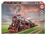 Educa Borras - Genuine Puzzles, Puzzle 2.000 piezas, Locomotora de vapor (18503)