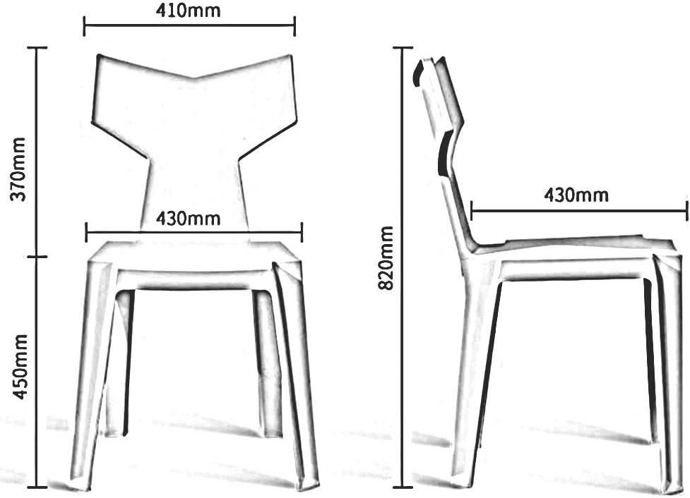 DALL Chaise De Salle À Manger Lot De 2 Meuble Moderne Chaise De Restaurant Chaise en Plastique 6 Couleurs 41X43X82cm (Color : Pink) Pink