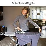 CoverMe Bügelbrettbezug aus 100% Baumwolle – Bügeltischbezug für Dampfbügeleisen – Elastischer Gummi: bis 140 x 50 cm - 2