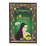 Kangana Natural Black Henna Powder for 100% Grey Coverage   Natural Black Henna Powder for Hair Dye / Color   Naturals Henna Hair Color - 6 Pouches Inside - Total 60 g (2.11 Oz)