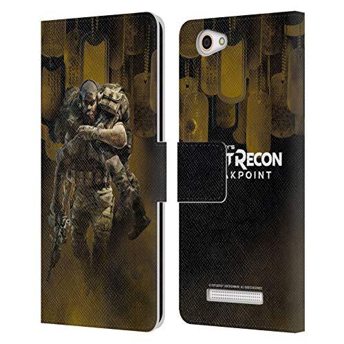 Head Case Designs Offizielle Tom Clancy's Ghost Recon Breakpoint Nomaden Poster Darsteller Kunst Leder Brieftaschen Huelle kompatibel mit Wileyfox Spark X