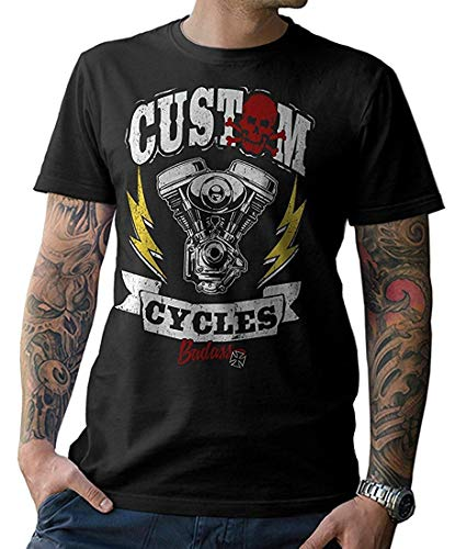NG articlezz Camiseta Custom Cycles Oldschool Biker Chopper Bobber Street Fighter Cafe Racer S-XXL