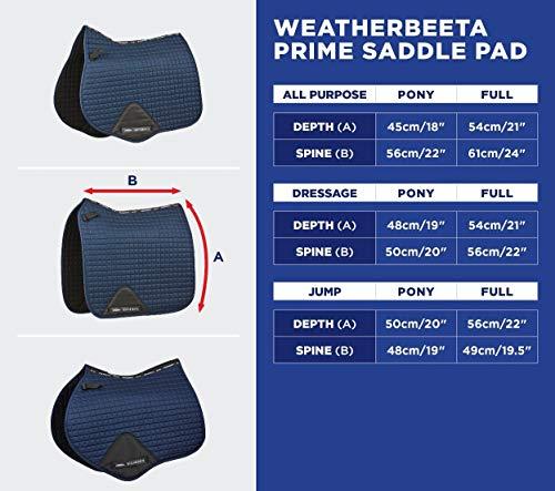 Weatherbeeta Full Size Prime All Purpose Saddle Pad One Size Maroon