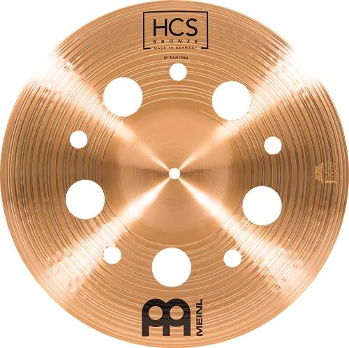 Meinl Cymbals 16' Trash China con agujeros - HCS acabado tradicional bronce para tambor, fabricado en Alemania, 2 años de garantía (HCSB16TRCH)