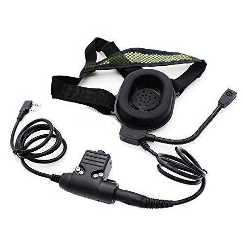 TOOGOO HD01 Auriculares con U94 PTT para Baofeng UV-5R GT-UV-BF-F8 + Retevis...