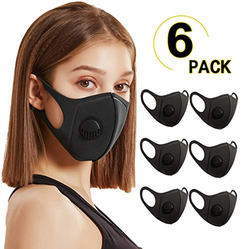Zhousir 6Pcs Face Covers, Fashion, Reusable, Solid Colour Face Bandanas, for Women Men Air Filter Face Bandanas Adults, Washable Face Cover, Face Covering for Unisex, for Outdoor Cycling Ski