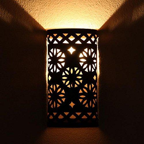 Orientalische Wandleuchte EWL08 | Echte Handarbeit aus Eisen | Mediterrane Dekoration & Geschenkidee | L1638