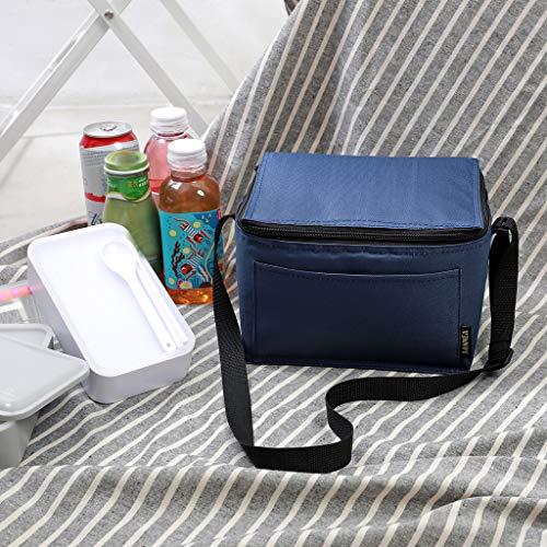 DeHolifer Kühltasche Picknicktasche, Quadratische Einfarbige Picknicktasche Klappbar Thermotasche Mittagessen Isoliertasche Lunch Tasche für Büro, Grillfeste, Camping, Beach, Auto, Outdoor Reisen