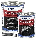Beko 2-K Epoxy - Resina 1 kg (incluye 10 abrazaderas de sujecin)