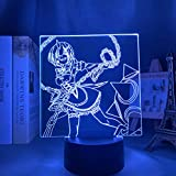 Lámpara de noche 3D Anime Illusion lámpara anime LED RE-cero vida en otro mundo LED luz nocturna para decoración de habitaciones, regalo RE Null REM lámpara 3D ZMSY