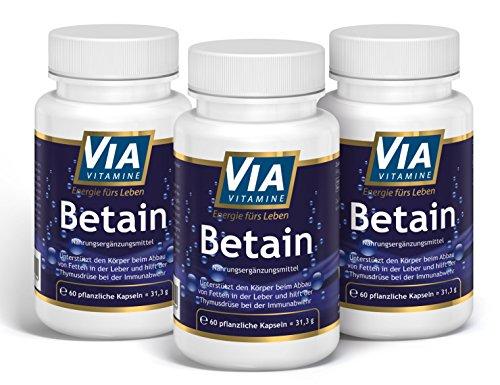 Betain HCL 3-er Sparpack von Via Vitamine