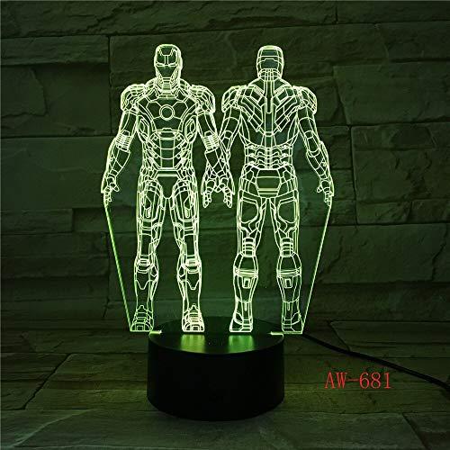 Interesante y creativo luz de noche 3D estéreo que cambia de color súper luz de noche decorativa de acrílico USB LED que cambia de color | iluminación indirecta luz ambiental luz nocturna