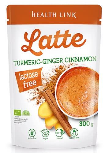 HEALTH LINK Bebida orgánica de cúrcuma y jengibre con canela y aroma turmericero orgánico turmeric-Ginger Cinnamon Latte Drink 300 g