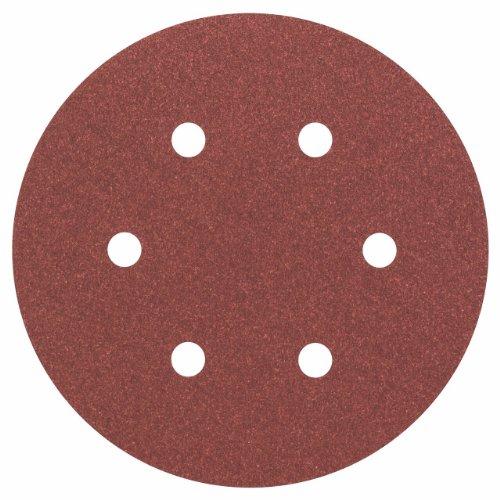 Bosch Professional Bosch 2608605720 Disque abrasif pour ponceuse excentrique Ø 150 mm 6 Trous Grain 120 5 pièces, Gris, 150mm