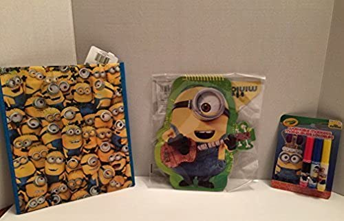 Despicable Me Minion Tasche, Minion Notebook, Minion Mini Marker Set, Paket mit 3 ück, Ideal für Kinder
