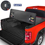 MOSTPLUS Tri-Fold Hard Truck Bed Tonneau Cover On Top Compatible for 2004-2015 Nissan Titan 3 Fold Solid 5.5 FT