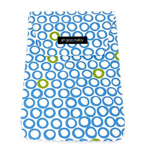 Ah Goo Baby Diaper Travel Pouch, Bubbles in Water Pattern