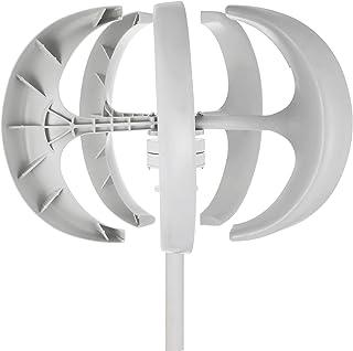 KITGARN Turbina wiatrowa 600 W 12 V generator turbiny wiatrowej biała latarnia pionowa generator wiatru 5 liści zestaw tur...