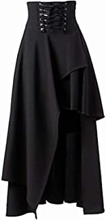 Surprise S Spring Gothic Steampunk Costume Clothing Retro Vintage High Waist Long Maxi Skirts Ruffle Burlesque Skirt